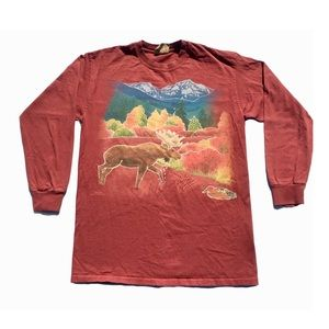 The Mountain brand moose scene long sleeve